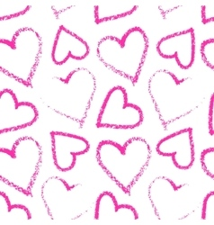 Lipstick heart seamless vector image