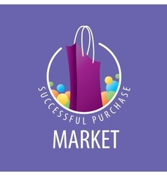 Logo shopping bag vector