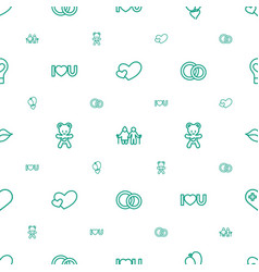 Love icons pattern seamless white background vector