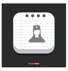 Medical user icon gray icon on notepad style vector