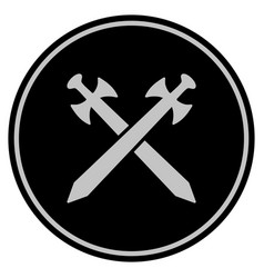 Medieval swords black coin vector