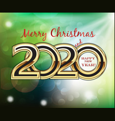 merry christmas and 2020 happy new year bubbles vector image