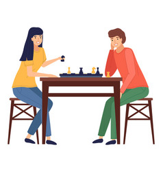 mother and daughter playing a board game together vector image