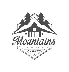 mountains wild life logo design premium quality vector image