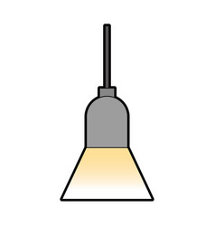 Office lamp isolated icon vector