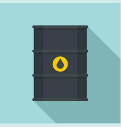 petrol barrel icon flat style vector image