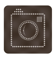 Photo or camera icon as stars vector