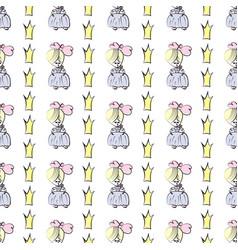 Princess seamless pattern for girls design vector