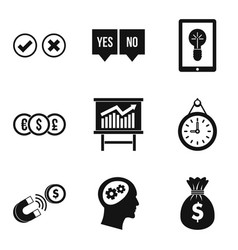 qualified personnel icons set simple style vector image