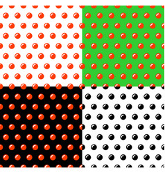 red and black caviar seamless patterns set vector image