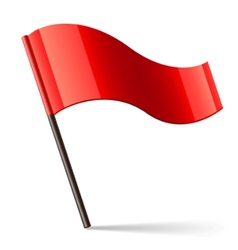 Red flag icon vector