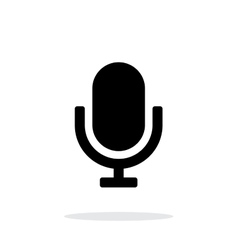Retro microphone icon on white background vector image