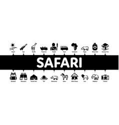 Safari travel minimal infographic banner vector