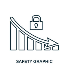 Safety decrease graphic icon mobile app printing vector