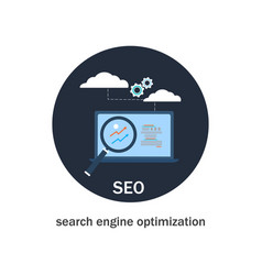 seo search engine optimization icon vector image