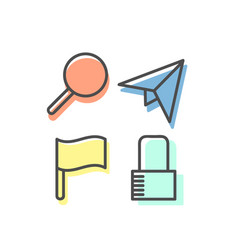 Set linear icons 08 vector