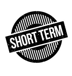 Short term rubber stamp vector