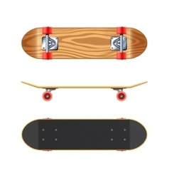 Skateboard Deck Side Bottom Realistic vector image