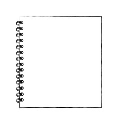 sketch draw notebook cartoon vector image