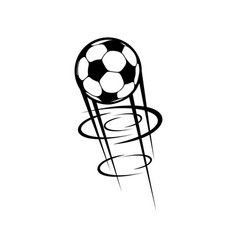 soccer or football ball flying in motion isolated vector image