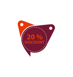 tag discount label 20 percent vector image