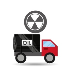 Tank truck oil contamination symbol vector