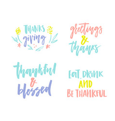 Thanks giving collection vector