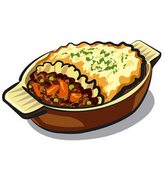 traditional shepherd pie vector image