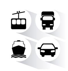Transportation design vector image
