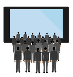 Tv influence on a person vector