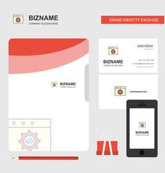 Website programming business logo file cover vector