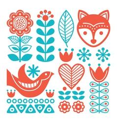 Finnish inspired folk art pattern - Nordic vector image vector image