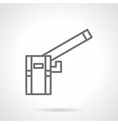 Garage barrier simple line icon vector image
