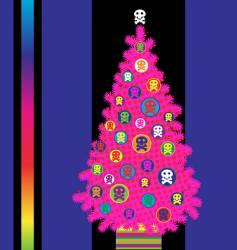 grunge Christmas backgound vector image vector image