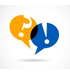 question and answer marks with speech bubbles vector image vector image