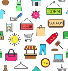 Sales colorful pattern icons vector image