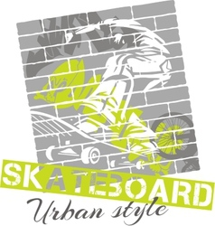 Skateboarding - urban style vector image vector image