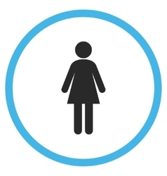 Woman Flat Rounded Icon vector image vector image