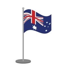australian flag pole steel icon vector image
