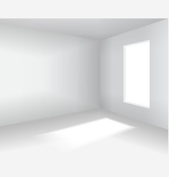 empty white room 3d blank interior vector image vector image