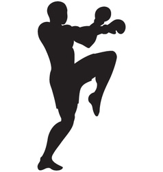 knee strike outline vector image