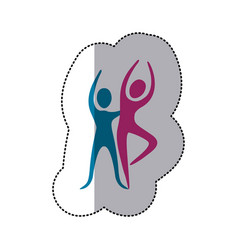 people couple dancing icon vector image