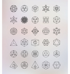 Sacred geometry Alchemy hipster symbols vector image vector image