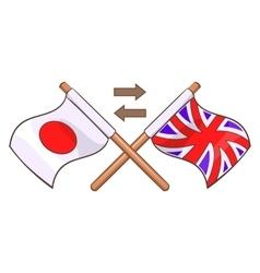 Translation to english icon cartoon style vector image