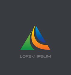 triangle arrow business logo vector image vector image