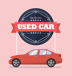Used car with banner vector