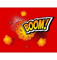 Boom Retro Comic Speech Bubble Cartoon vector image vector image