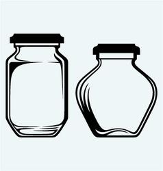Glass jars vector image