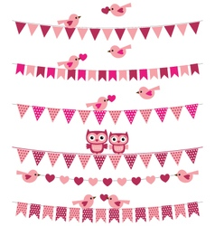 Love birds set vector image vector image