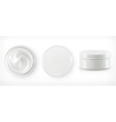 Round packaging of cream vector image vector image